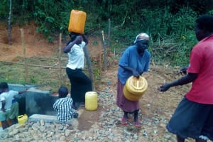The Water Project: Bumavi Community, Shoso Mwoga Spring -  Protected Spring