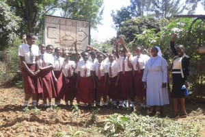 The Water Project: Bishop Sulumeti Girls Secondary School -  Students And Principal Posing For A Picture
