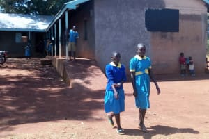 The Water Project: Ematsuli Primary School -  Class Girls Walk Outside