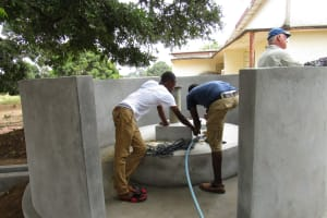 The Water Project: Tintafor, Officer's Quarters Community -  Construction