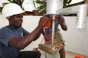 The Water Project: Tintafor, Police Barracks C-Line Community -  Pump Installation