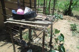 The Water Project: Mulundu Community, Fanice Mwango Spring -  An Improvised Dishrack