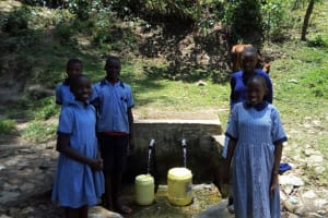 The Water Project: Chief Mutsembe Primary School -  Students Fetch Water