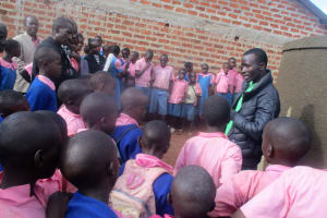 The Water Project: Virembe Primary School -  Tank Maintenance Training
