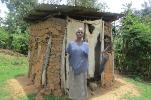The Water Project: Mulundu Community, Fanice Mwango Spring -  Mrs Fanices Latrine
