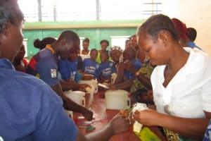 The Water Project: Tintafor, Police Barracks C-Line Community -  Making Hand Washing Stations