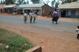 The Water Project: Esibuye Primary School -  Children Crossing Street