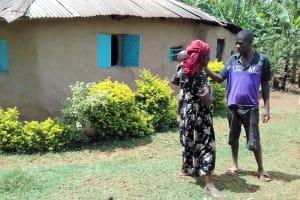 The Water Project: Igogwa Community -  Bernard Seregwa And Wife At Their Beautiful Homestead