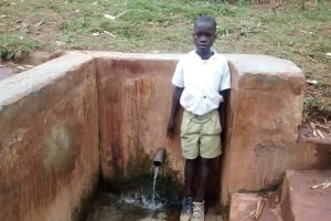 The Water Project: Mukhombe Primary School -  Pupil At Muluwanda Spring