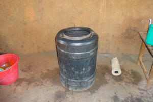 The Water Project: Emukangu Primary School, Butere -  Water Storage Container In Kitchen