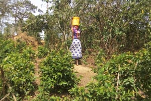 The Water Project: Shikoti Community -  Carrying Water