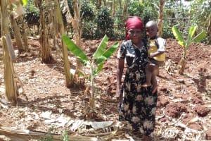 The Water Project: Igogwa Community -  Mrs Seregwa And Her Son