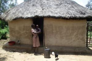 The Water Project: Mulundu Community, Fanice Mwango Spring -  Mrs Aseka And Her Son At Their Home