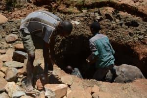 The Water Project: Mbindi Community C -  Well Construction