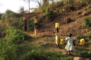 The Water Project: Shitoto Community, William Manga Spring -  Walking For Dirty Water