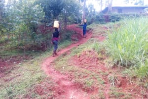 The Water Project: Simuli Community, Lihala Sifoto Spring -  Pathway From The Spring