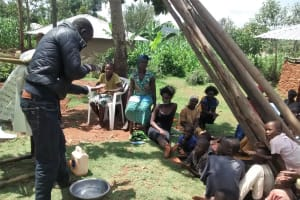 The Water Project: Shikhuyu Community -  Demonstrating Hand Washing