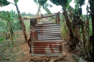 The Water Project: Mukhuyu Community, Shikhanga Spring -  Latrine