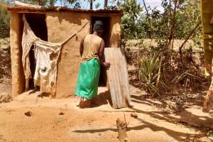The Water Project: Mungulu Community, Zikhungu Spring -  Latrine