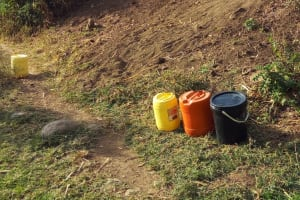 The Water Project: Shitoto Community, William Manga Spring -  Water Containers