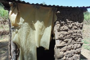 The Water Project: Shikhambi Community, Daniel Inganga Spring -  Latrine