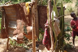 The Water Project: Lutali Community, Lukoye Spring -  Bathing Shelter