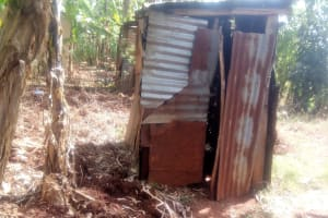 The Water Project: Lutonyi Community, Shihachi Spring -  Latrine