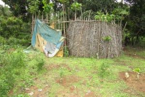 The Water Project: Baya Community -  Bath Shelter