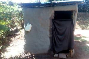 The Water Project: Elunyu Community, Saina Spring -  Latrine And Hand Washing Station