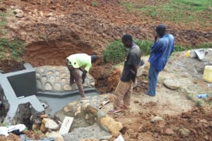 The Water Project: Shitaho Community B, Isaac Spring -  Construction