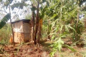 The Water Project: Lutonyi Community, Shihachi Spring -  Bathing Shelter