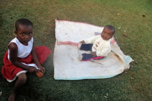 The Water Project: Wamuhila Community, Isabwa Spring -  Lupita And Sister