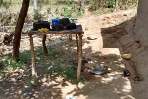 The Water Project: Lutali Community, Lukoye Spring -  Dish Rack