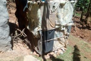 The Water Project: Elunyu Community, Saina Spring -  Bathing Shelter