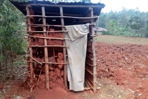 The Water Project: Simuli Community, Lihala Sifoto Spring -  Latrine