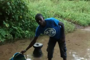 The Water Project: Gbaneh Bana SLMB Primary School -  Fetching Water