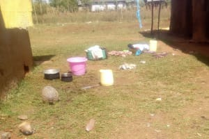 The Water Project: Lutonyi Community, Shihachi Spring -  Clothes Scattered Around