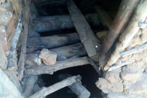 The Water Project: Handidi Community, Matunda Spring -  Dangerous Latrine Floor