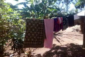 The Water Project: Elunyu Community, Saina Spring -  Clothesline