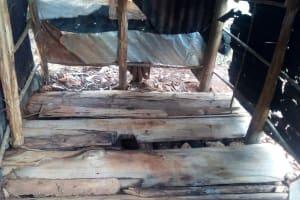 The Water Project: Simuli Community, Lihala Sifoto Spring -  Latrine Floor