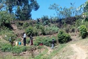 The Water Project: Handidi Community, Matunda Spring -  Spring Environment