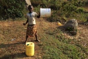 The Water Project: Shitoto Community, William Manga Spring -  Ready To Fetch Water