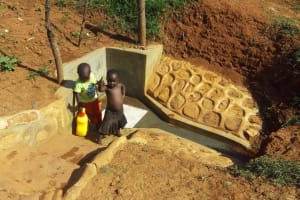 The Water Project: Shitaho Community B, Isaac Spring -  Fetching Clean Water