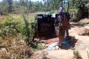 The Water Project: Handidi Community, Matunda Spring -  Bathing Shelter