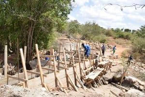 The Water Project: Katitu Community -  Construction