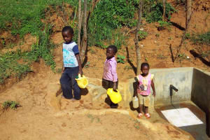 The Water Project: Shitaho Community B, Isaac Spring -  Children Fetching Water