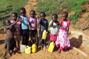 The Water Project: Shitaho Community B, Isaac Spring -  Children