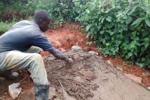The Water Project: Shikhuyu Community -  Sanitation Platform Construction