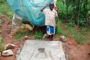 The Water Project: Shikhuyu Community -  Finished Sanitation Platform