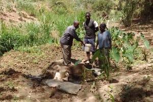 The Water Project: Mungulu Community, Zikhungu Spring -  Zikhungu Family At Spring